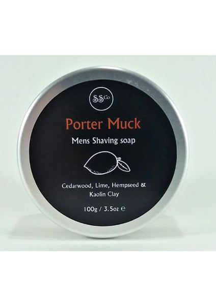 porter muck, shaving soap 100g; 100% natural handmade skin care