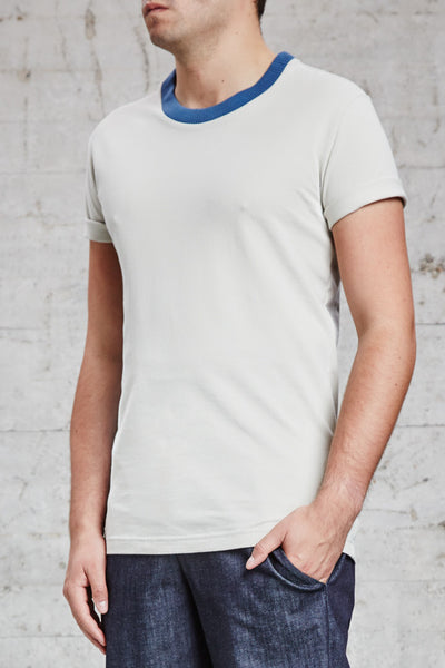 ssfw 156: t-shirt with 2x2 rib neck trimming made from 100% organic pique cotton