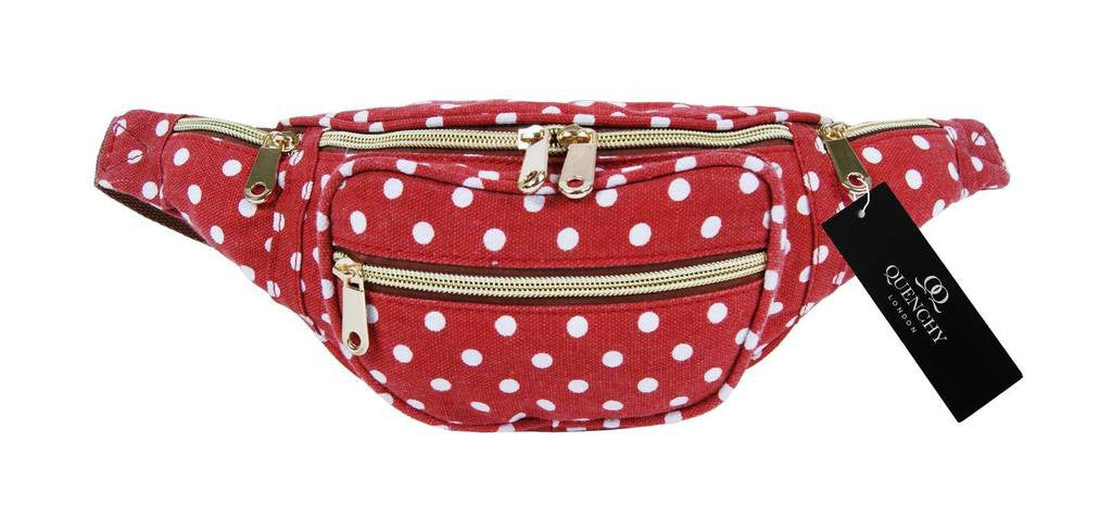 Festival Holiday Bumbag in red polka dot Print Q4152K