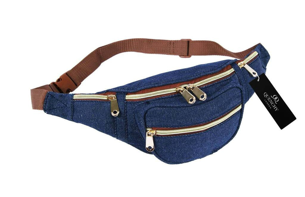 Festival Holiday Bumbag in navy denim cloth Q4156N