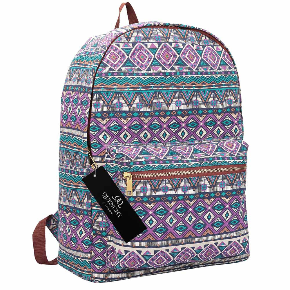 15 FUNKY COLOURS Canvas Backpack Rucksack Bag - Girls Ladies Womens ... 4500640e3722f