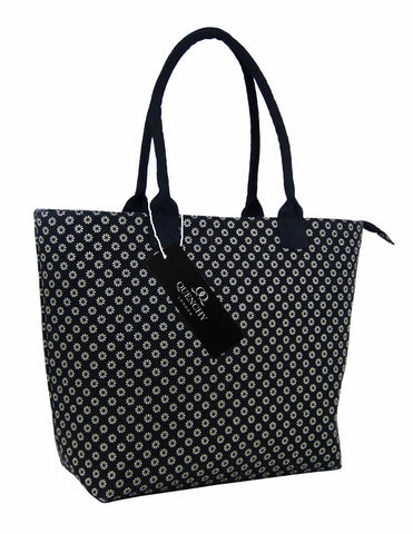 Tote Shopping Beach Handbag Wallflower Black QL3155Kf
