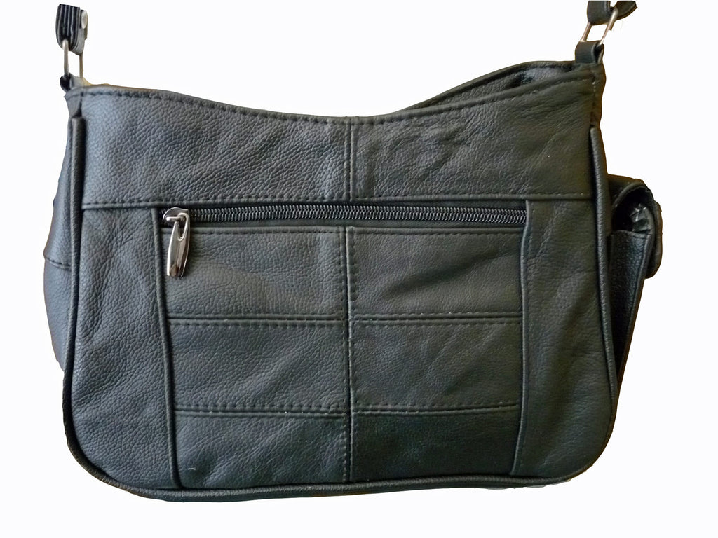 Leather Ladies Cross Body Bags QL743 rear view