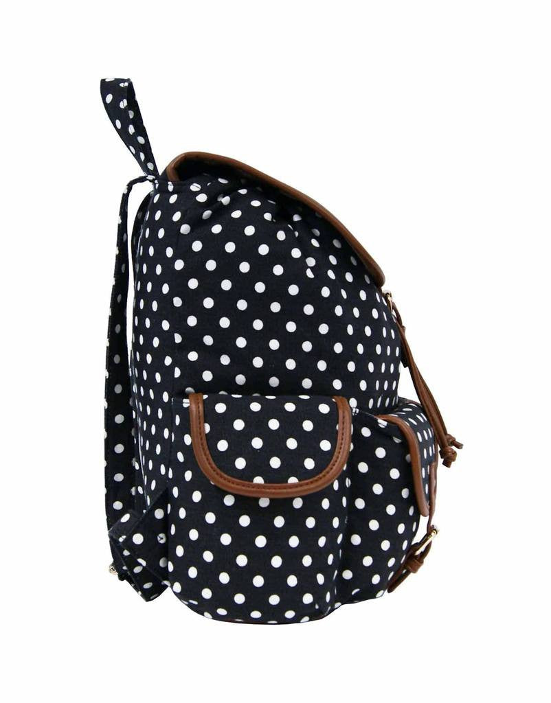 Polka Dot Print Backpacks Bags QL152K side view