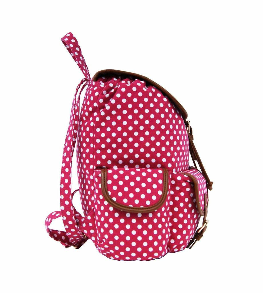 Polka Dot Print Backpacks Bags QL152P side view