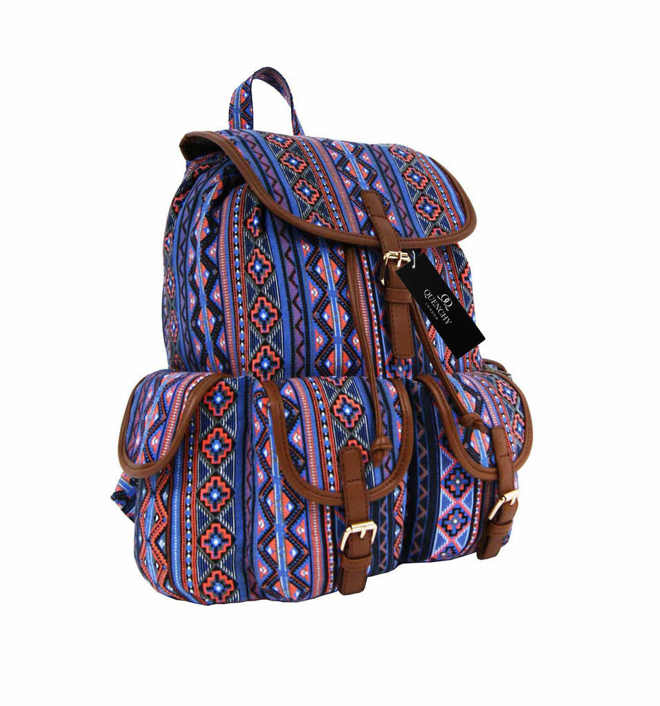 Canvas Backpack Rucksack Casual Day Packs Aztec Print Backpacks Bag Bags QL154O