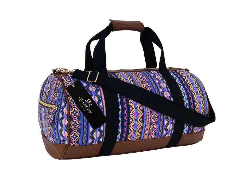 Travel Holdall Duffel Weekend Overnight Duffle Aztec Print Bag QL6154P