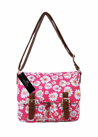 Festival Holiday Satchel in pink floral Print Q5151P