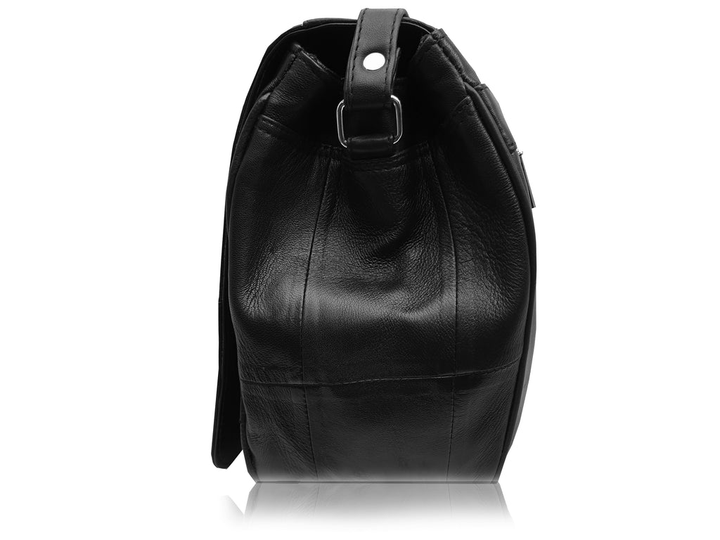 Real Leather Black Handbag QL975S