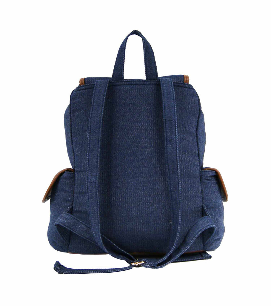 Canvas Denim Jeans Backpack Rucksack Backpacks Bag Bags QL156N rear view