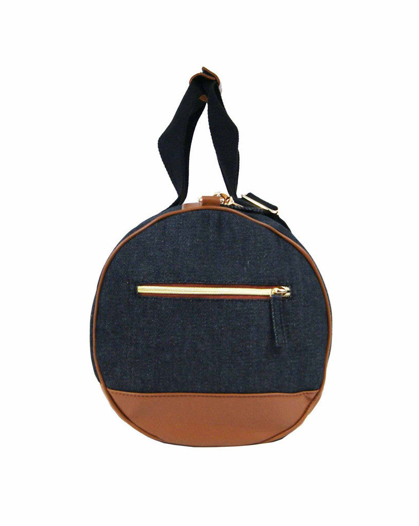 Travel Holdall Duffle Bag Denim QL6156