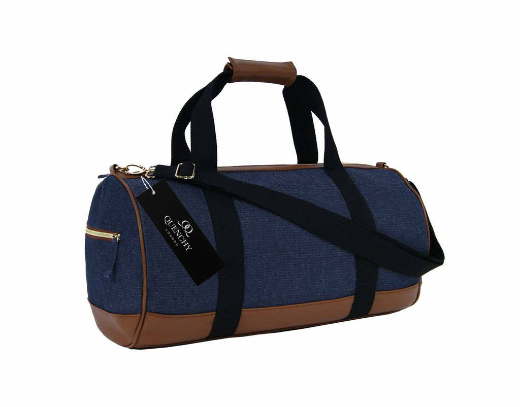 Travel Holdall Duffel Weekend Overnight Duffle Denim Jeans Cloth Bag QL6156N