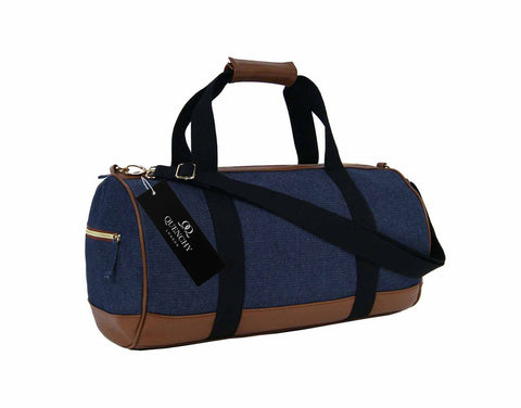 Travel Holdall Duffel Weekend Overnight Duffle Denim Jeans Cloth Bag QL6156K