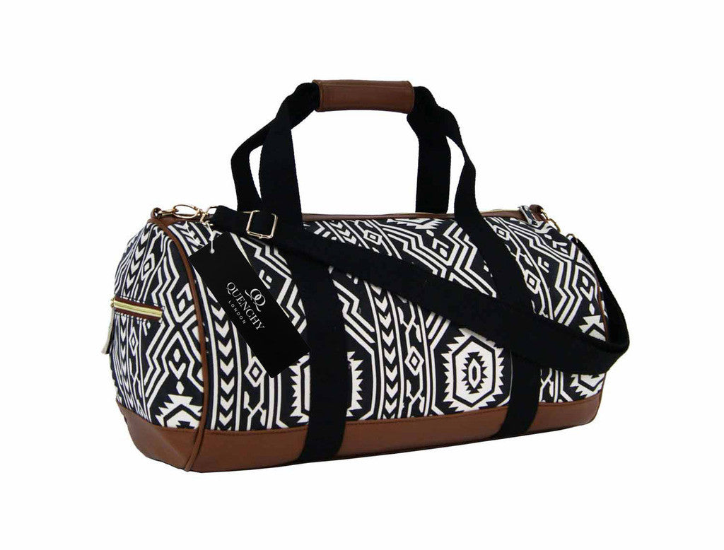 Travel Holdall Duffel Weekend Overnight Duffle Aztec Print Bag QL6154K