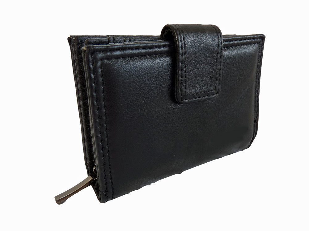Small soft leather purse Q116 front view