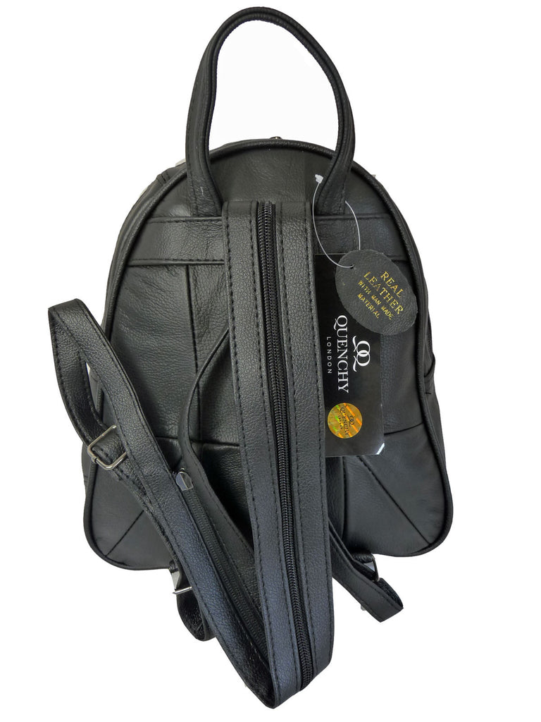 Leather Backpack Rucksack Handbag QL748b2 Back View 2