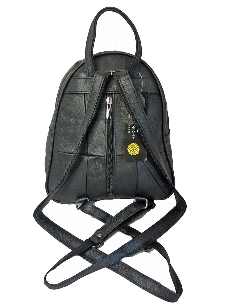 Leather Backpack Rucksack Handbag QL748b Back View