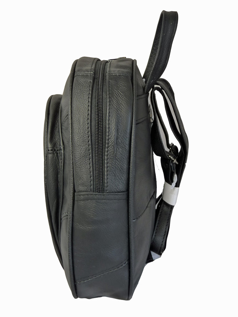 Leather Backpack Rucksack Handbag QL748 S Side View