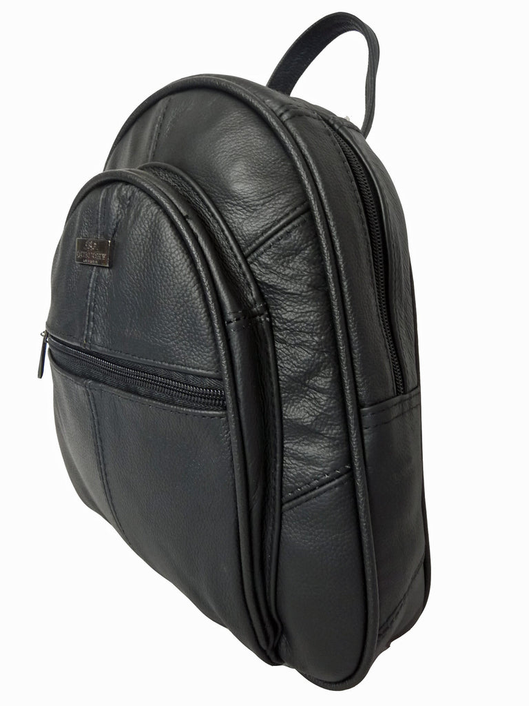 Leather Backpack Rucksack Handbag QL748 Side View