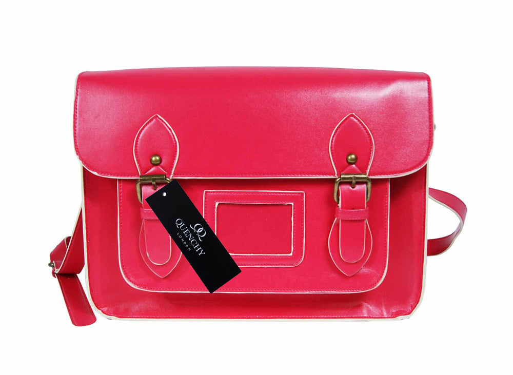 Leather Satchel Cross Body QL525P front view
