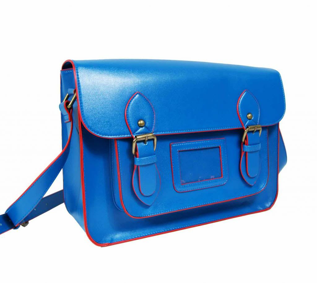 Patent Pu Leather Girls Cross Body Bag Classic Retro Bags Blue 525
