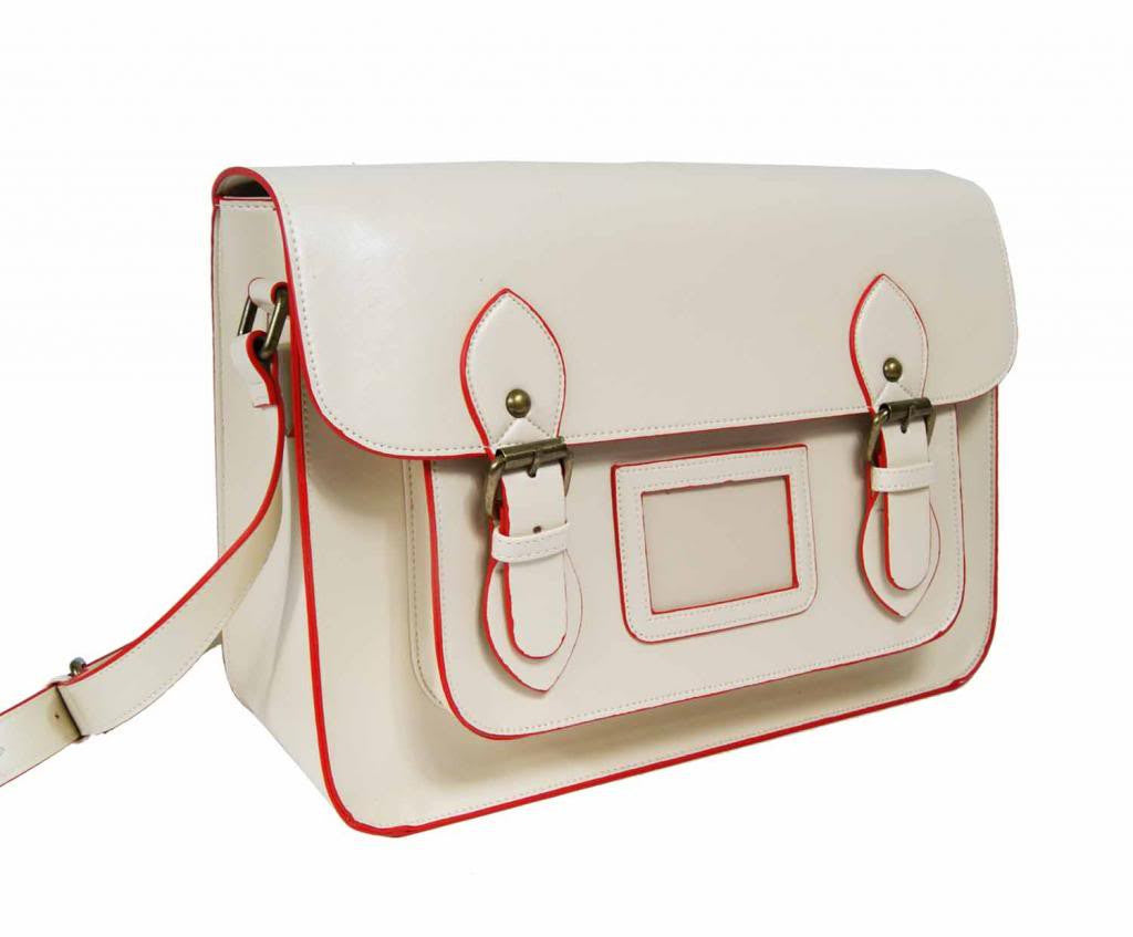 Patent Pu Leather Girls Cross Body Bag Classic Retro Bags Beige 525