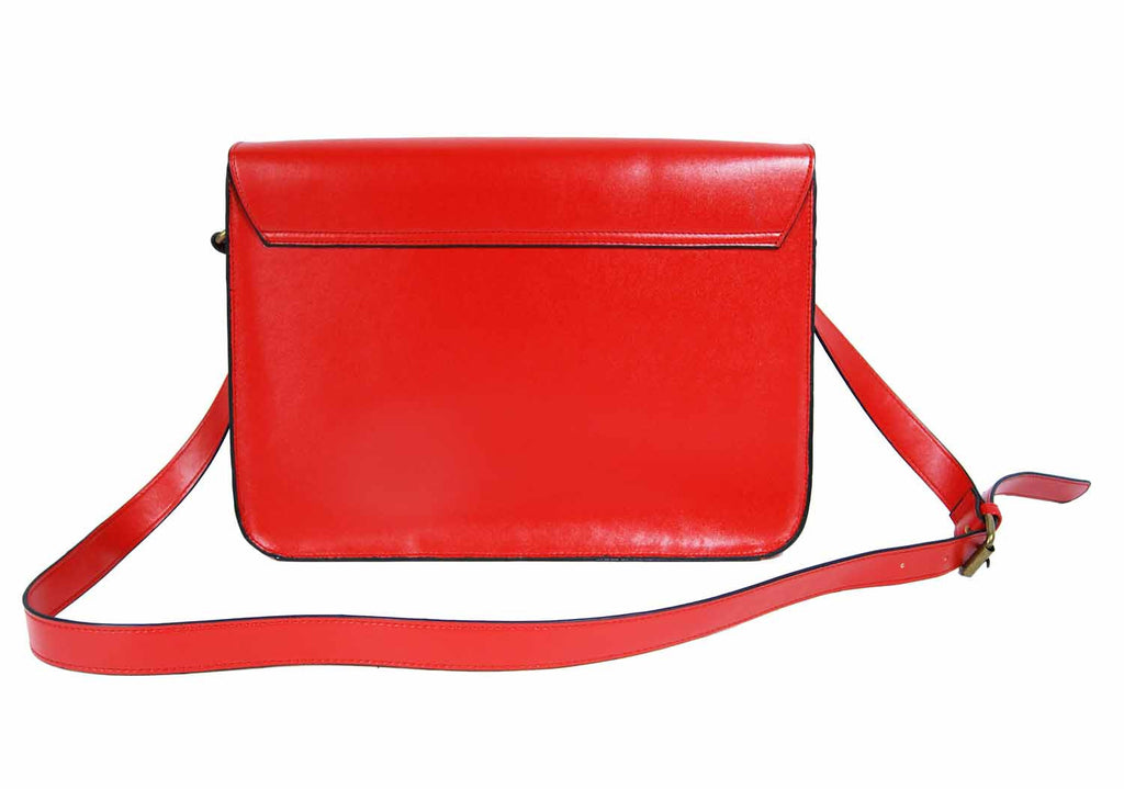Leather Satchel Cross Body QL525R rear view