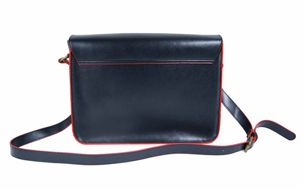 Leather Satchel Cross Body QL525B rear view