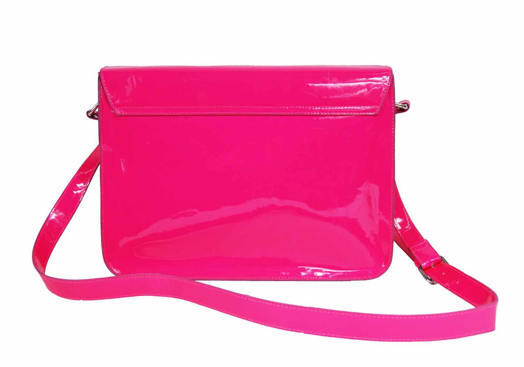 School Satchel Pu Leather QL525P rear view