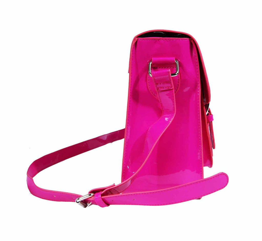 School Satchel Pu Leather QL525F side view 2