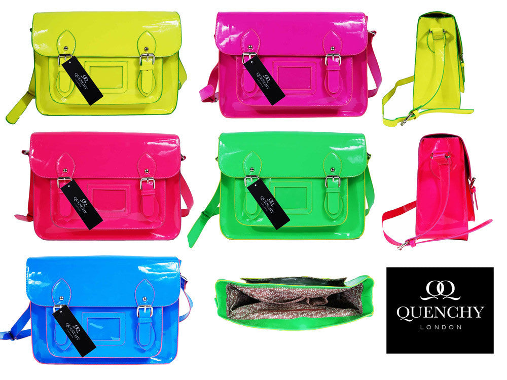 Patent Satchel - All Five Colours