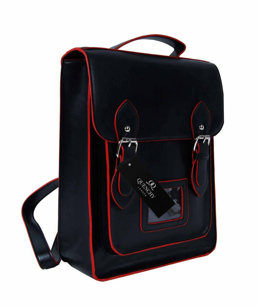 Satchel Backpacks Rucksack Bag School Bags Pvc Leather Q8207K side view