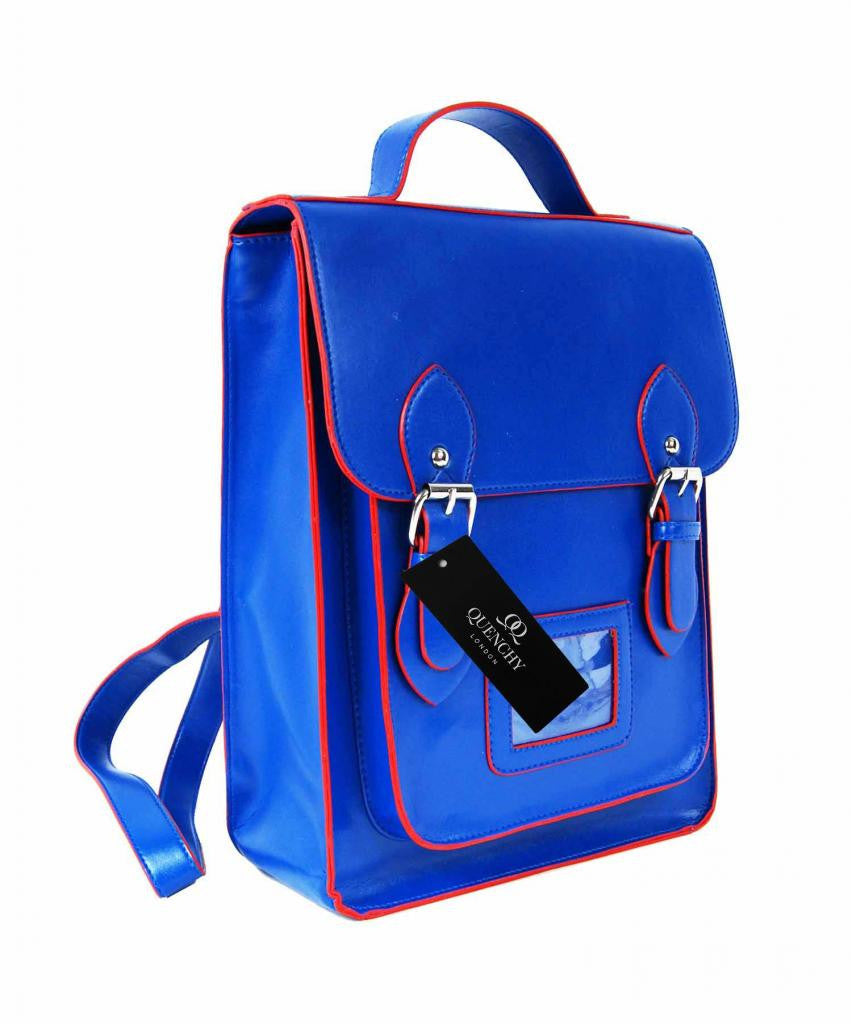Satchel Backpacks Rucksack Bag School Bags Pvc Leather Q8207n side view