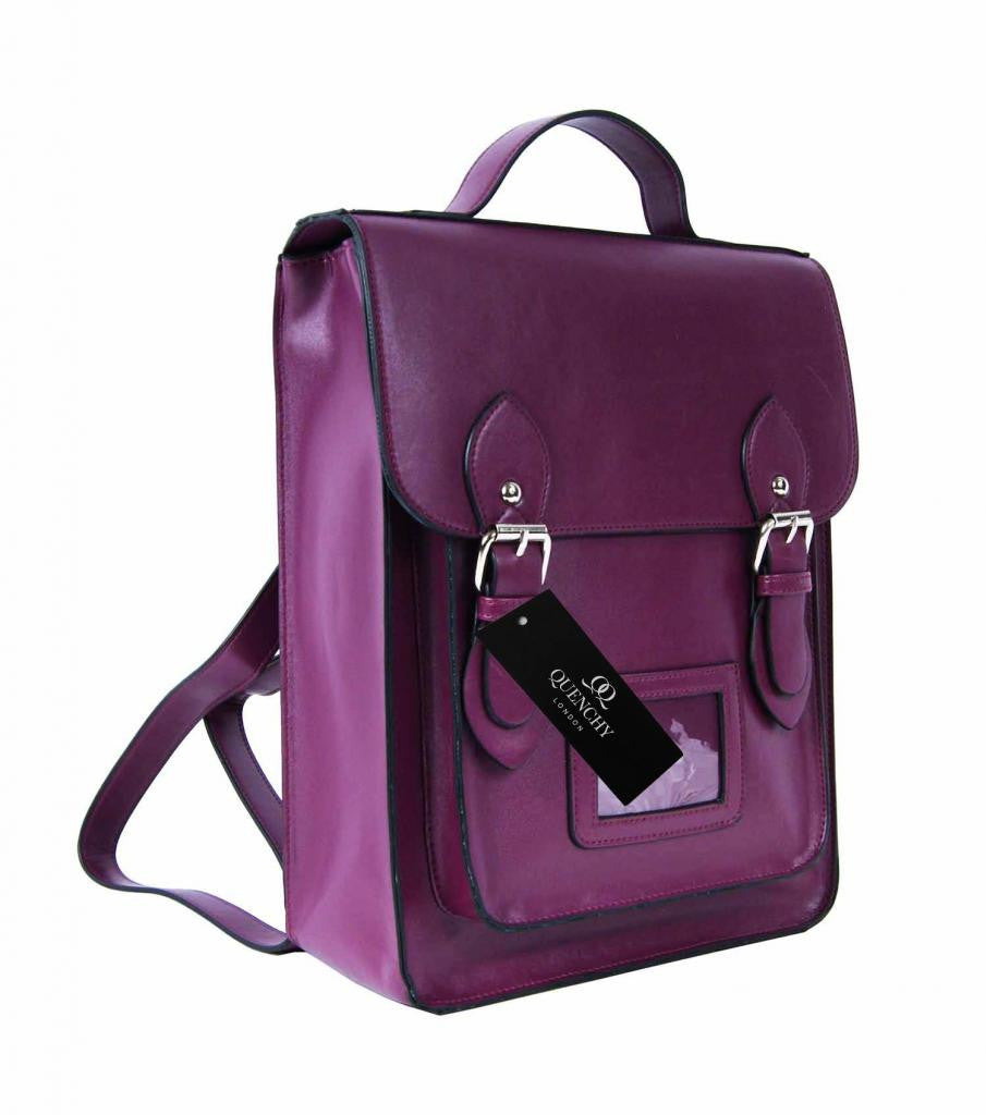 Satchel Backpacks Rucksack Bag School Bags Pvc Leather Q8207Pu side view