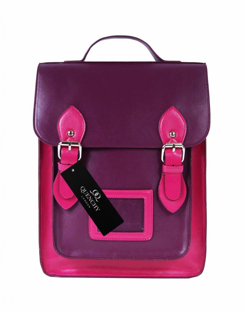 Girls Satchel Backpacks Rucksack Bag School Bags Pvc Leather Q8207PuP