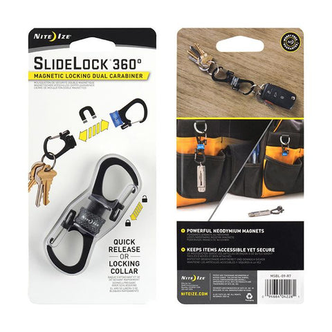 Carabiner Sildelock 360 Magnetic Locking Dual