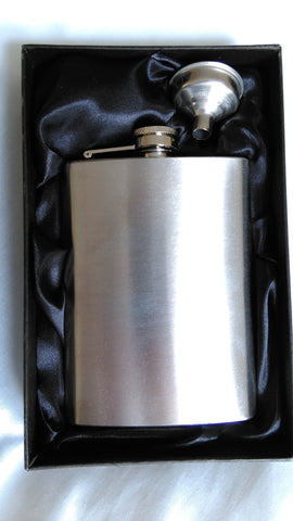 Stainless Steel Hip Flask and Funnel in Gift Box