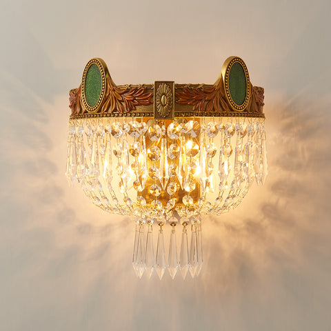 gilt bronze sconce with crystal lampshades -  westmenlights