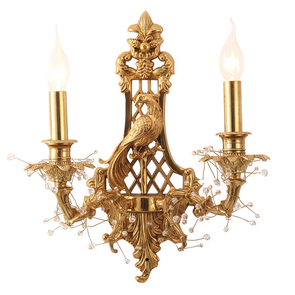 peacock gilt bronze sconce -  westmenlights