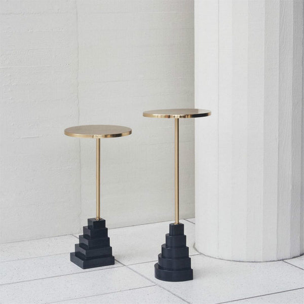 Simple Geometry Nature Marble End Table -  westmenlights