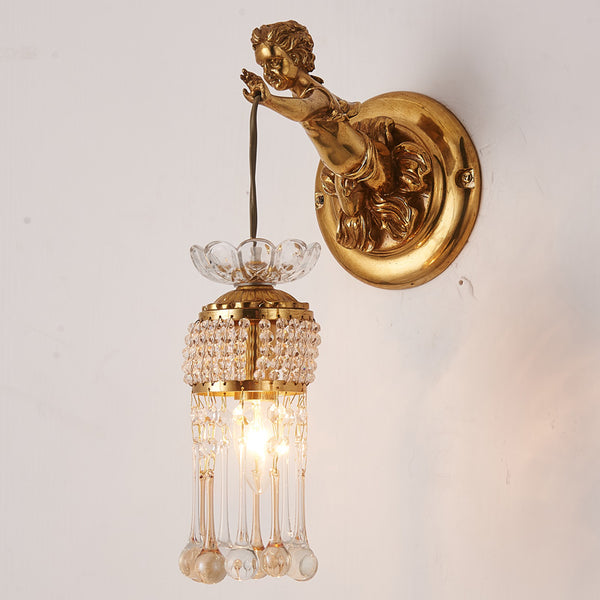 angel hanging sconce with crystal lampshades -  westmenlights