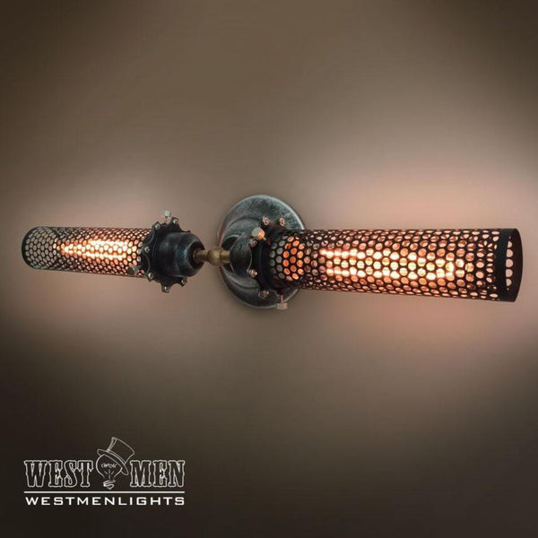 Grid Cage 2 Lights Double Arm Wall Sconce -  westmenlights