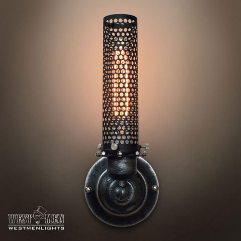 Grid 1 Lights Metal Cage Sconce
