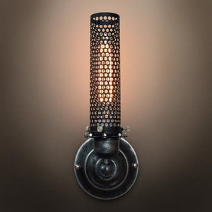 Grid 1 Lights Metal Cage Sconce | coupon:sconce49