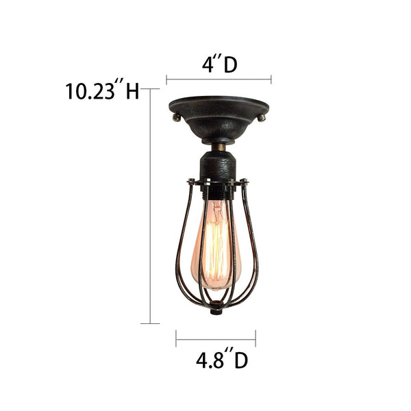 Globe 1 Light Cage Flush Mount Mini Pendant -  westmenlights