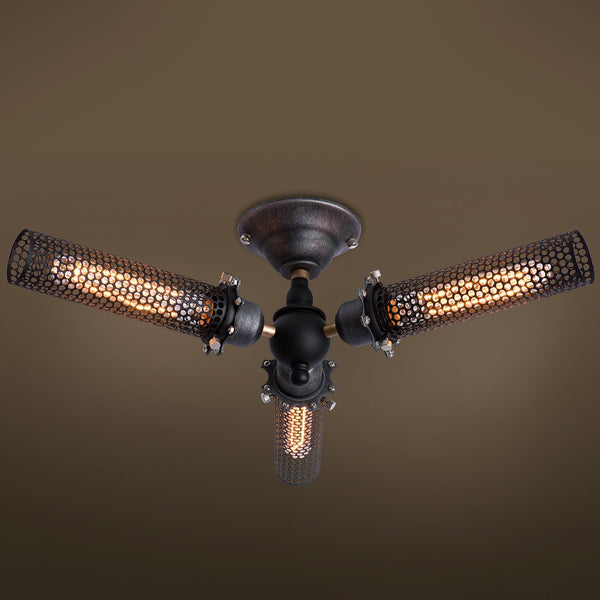 Grid 3 Lights Semi Flush Mount Ceiling light -  westmenlights