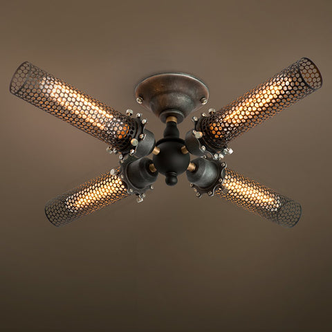 Grid 4 Lights Semi Flush Mount  Ceiling light -  westmenlights