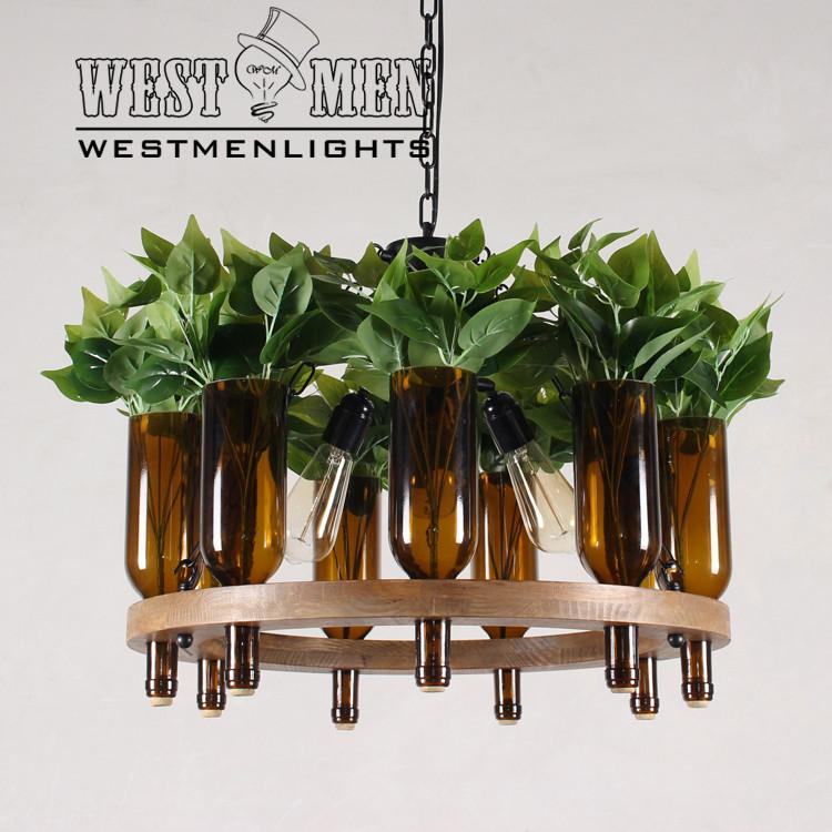 plant bottle hanging chain chandelier