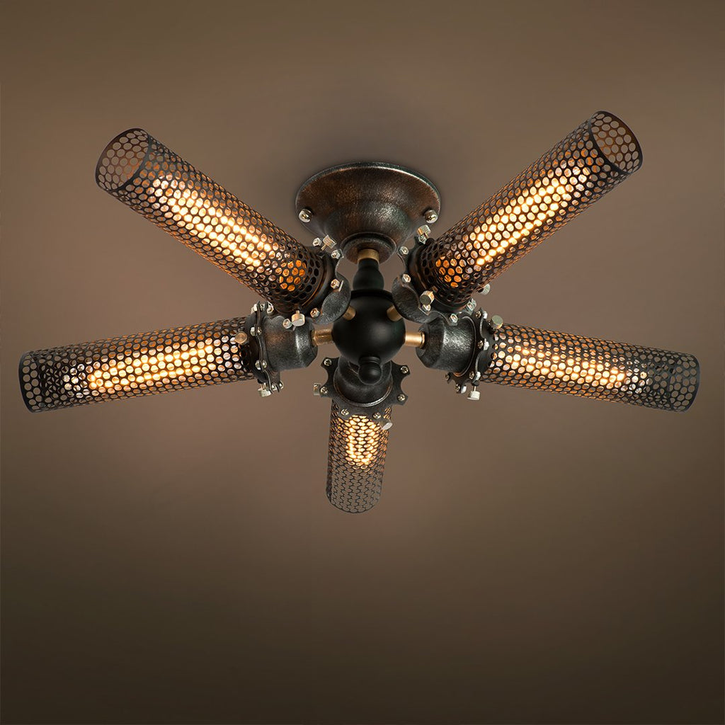 Grid 5 Lights Semi Flush Mount Ceiling light -  westmenlights