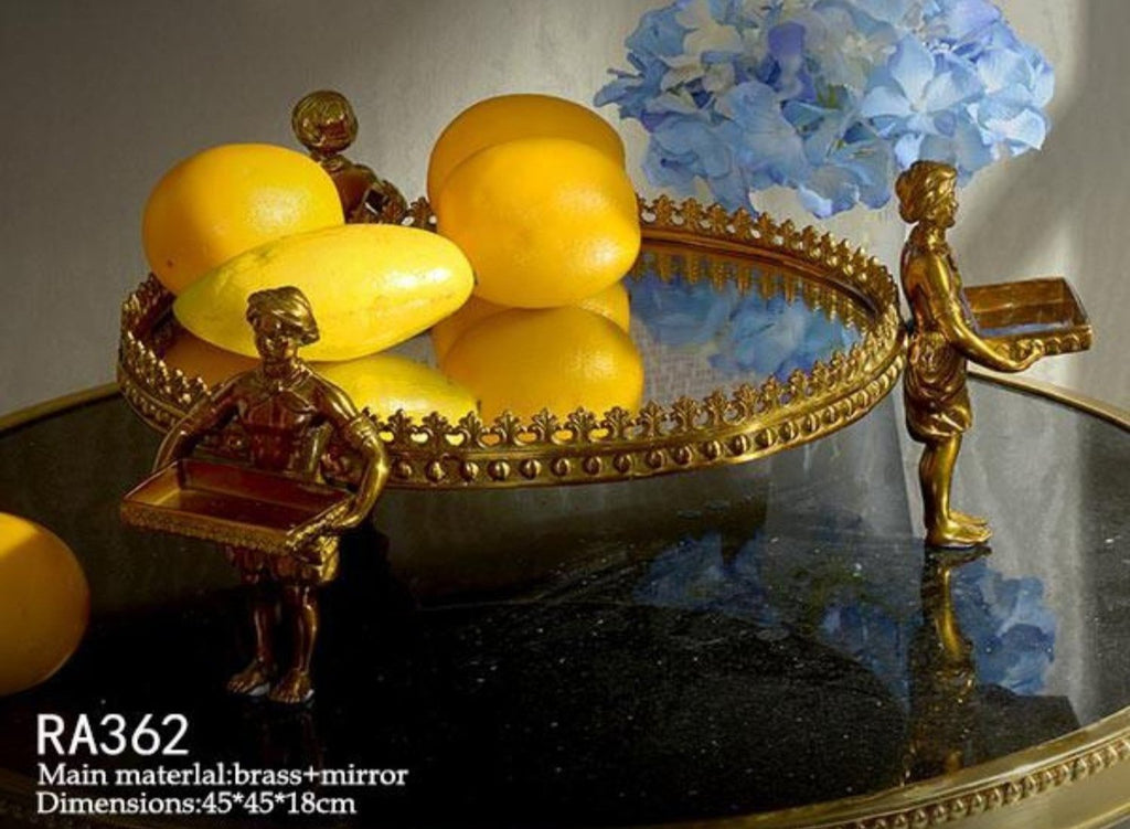 Gilt Bronze Mirrored Tray -  westmenlights